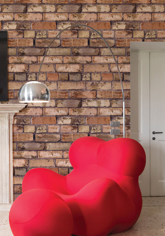 Old Brown Bricks Boutique Faux Wallpaper design by Milton & King