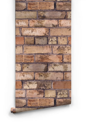 Sample Old Brown Bricks Boutique Faux Wallpaper design by Milton & King