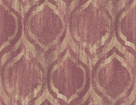 Old Danube Wallpaper in Purple from the Lugano Collection by Seabrook Wallcoverings