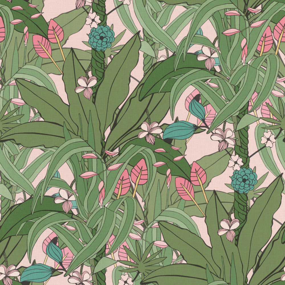 Sample Olive Tropical Pop Wallpaper by Walls Republic