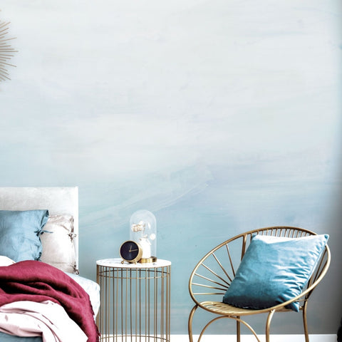 Ombre Self-Adhesive Wall Mural in Blue by Zoe Bios Creative for Tempaper