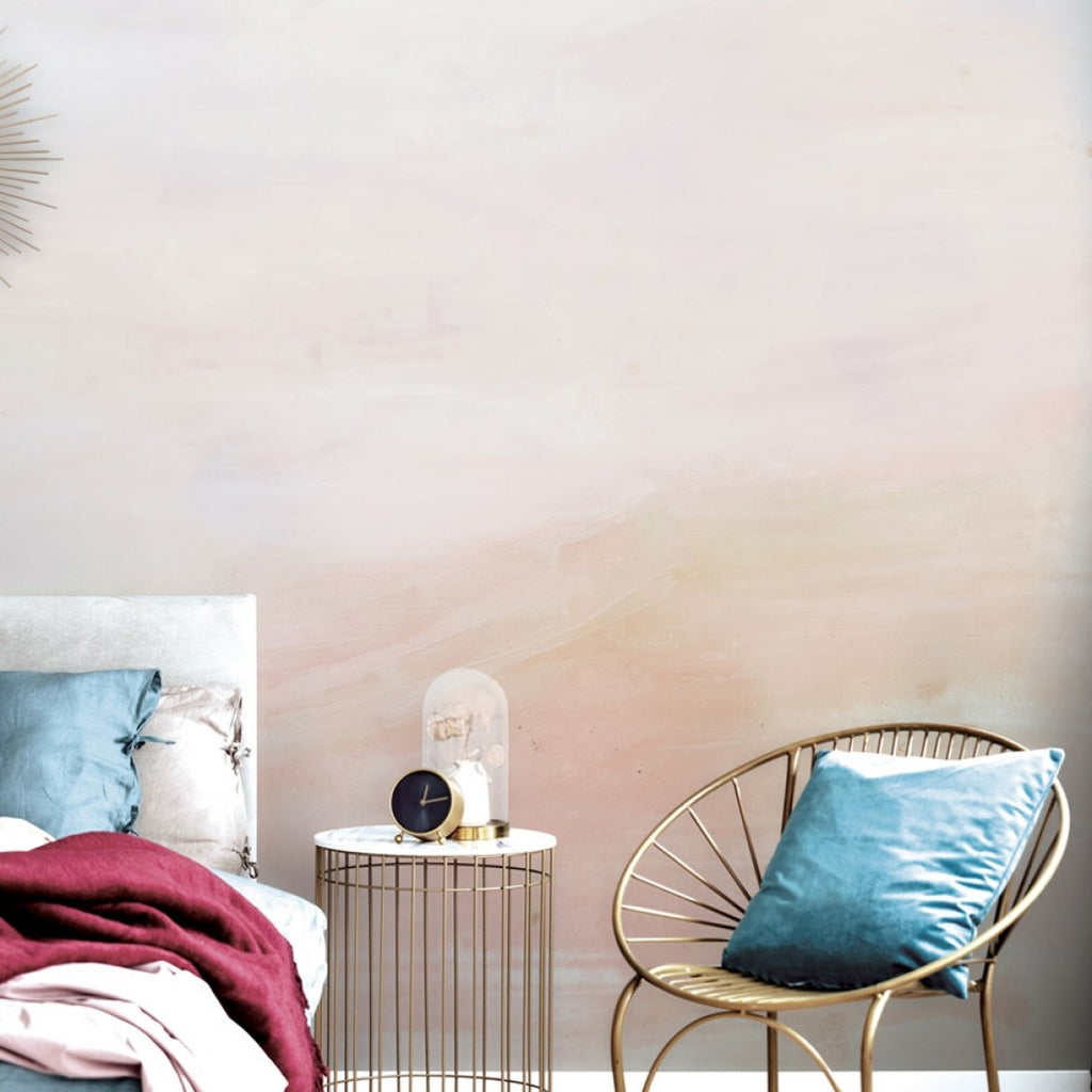 Ombre Self-Adhesive Wall Mural in Peach by Zoe Bios Creative for Tempaper