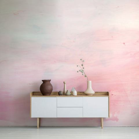 Ombre Self-Adhesive Wall Mural in Pink by Zoe Bios Creative for Tempaper