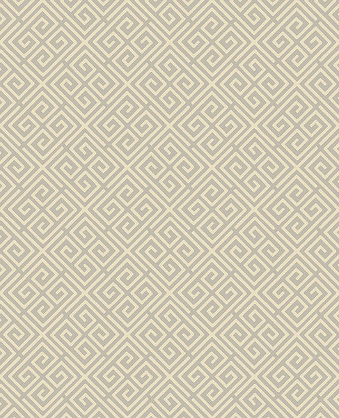 Omega Taupe Geometric Wallpaper from the Symetrie Collection by Brewster Home Fashions