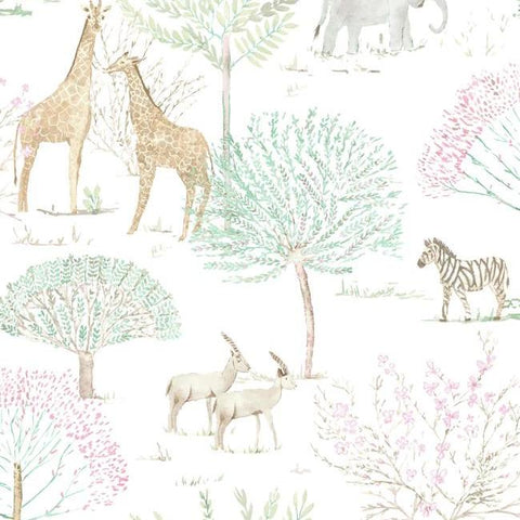 On The Savanna Wallpaper in Pastel from the A Perfect World Collection by York Wallcoverings