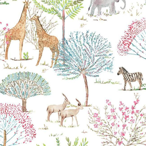 On The Savanna Wallpaper in Primary from the A Perfect World Collection by York Wallcoverings