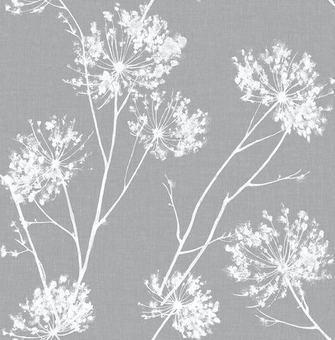 One O'Clocks Peel-and-Stick Wallpaper in Cove Grey by NextWall