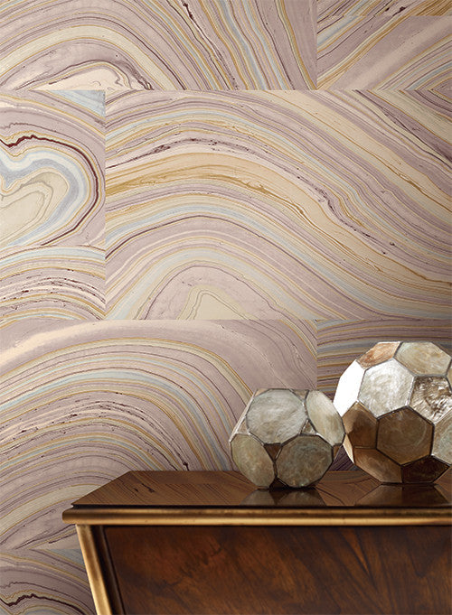 Onyx Wallpaper in Purple design by Candice Olson for York Wallcoverings