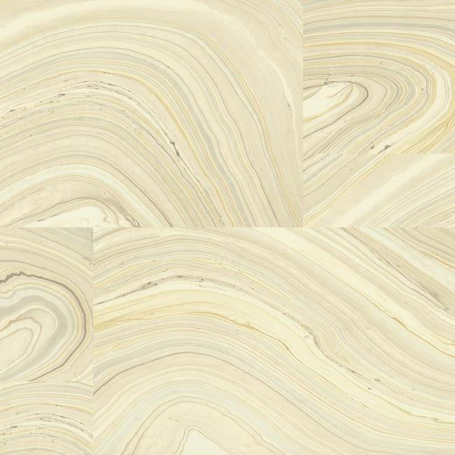 Sample Onyx Wallpaper in Yellow and Brown design by Candice Olson for York Wallcoverings