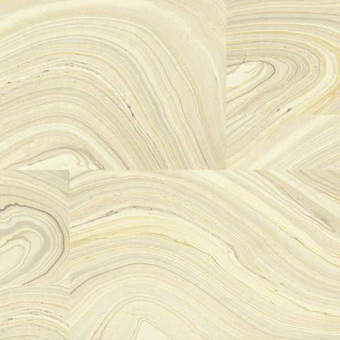Onyx Wallpaper in Yellow and Brown design by Candice Olson for York Wallcoverings