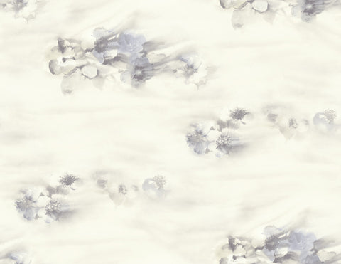 Ophelia Wallpaper in Lilac and Cream from the Solaris Collection by Mayflower Wallpaper