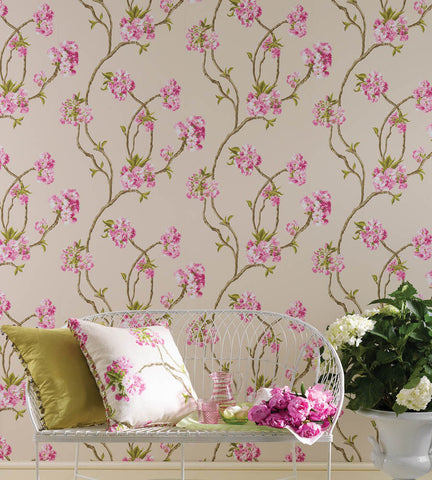 Orchard Blossom Wallpaper 01 by Nina Campbell for Osborne & Little