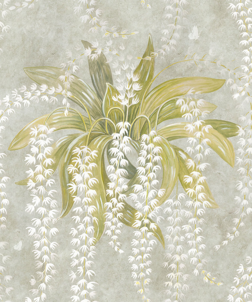 Sample Orchid Wallpaper (Two Roll Set) in Biege by Bethany Linz for Milton & King