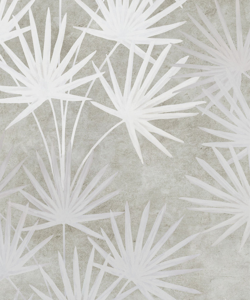 Oriental Palm Wallpaper (Two Roll Set) in Beige by Bethany Linz for Milton & King
