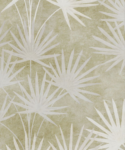 Oriental Palm Wallpaper (Two Roll Set) in Chartreuse by Bethany Linz for Milton & King