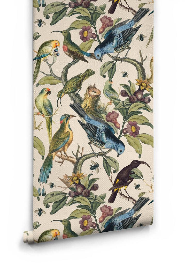 Sample Ornithology Wallpaper from the Erstwhile Collection by Milton & King