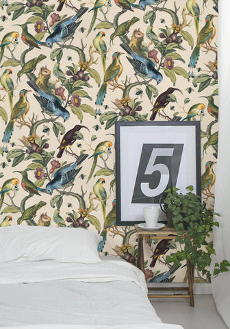 Ornithology Wallpaper from the Erstwhile Collection by Milton & King