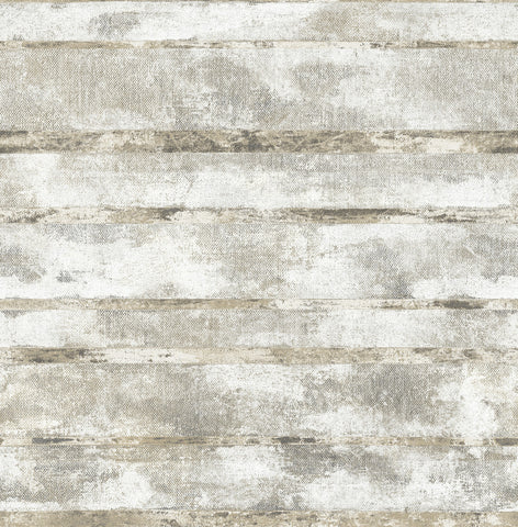 Otis Wallpaper in Grey and Gold from the Metalworks Collection by Seabrook Wallcoverings