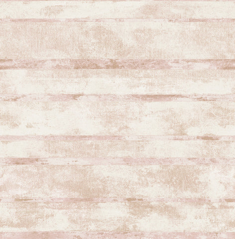 Otis Wallpaper in Ivory, Pink, and Tan from the Metalworks Collection by Seabrook Wallcoverings
