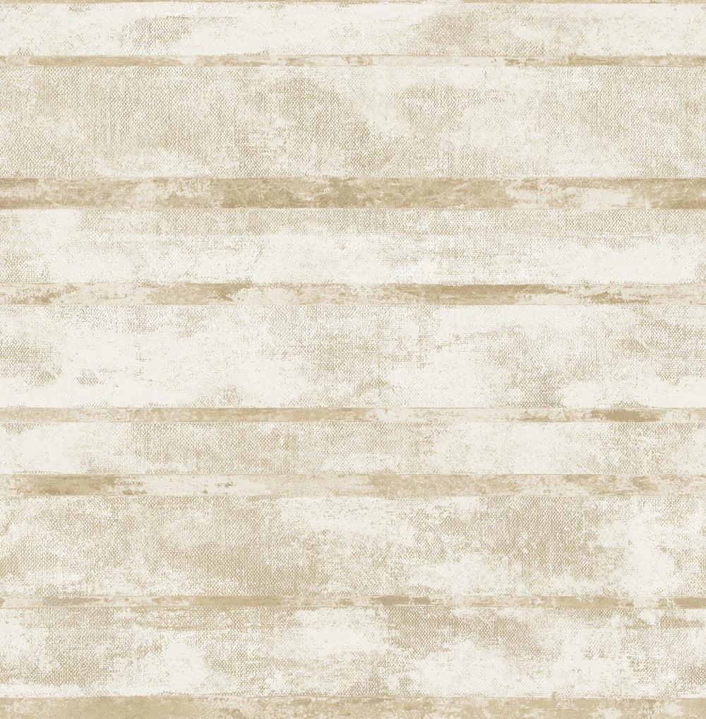 Otis Wallpaper in Off-White and Gold from the Metalworks Collection by Seabrook Wallcoverings