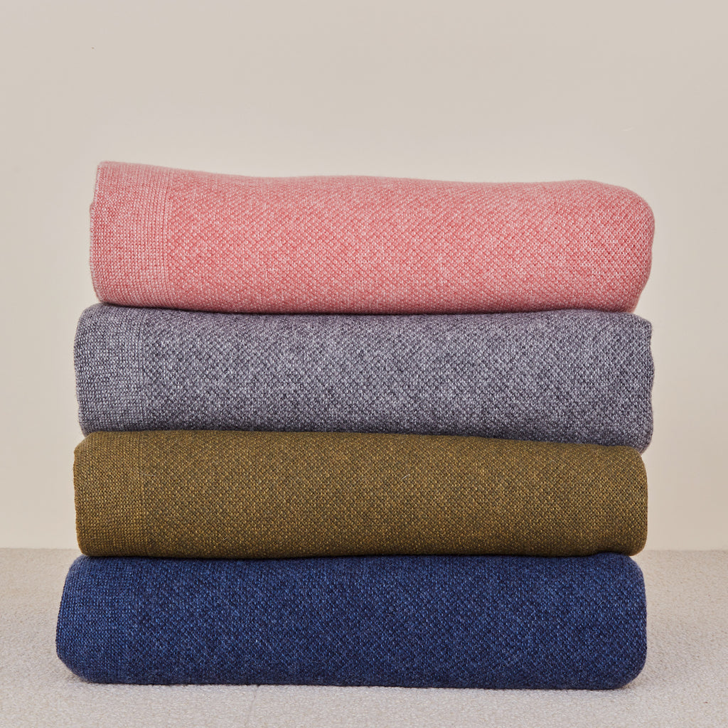 Simple Knit Oversized Throw in Various Colors design by Hawkins New York