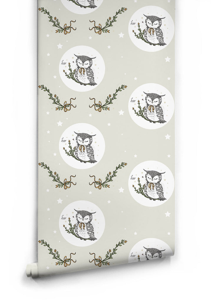 Sample Owl Moon Wallpaper by Muffin & Mani for Milton & King