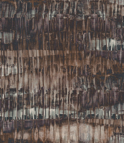Oxide Wallpaper in Bronze, Green, and Purple from the Aerial Collection by Mayflower Wallpaper