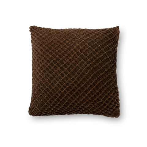 Brown Velvet Pillow by Loloi