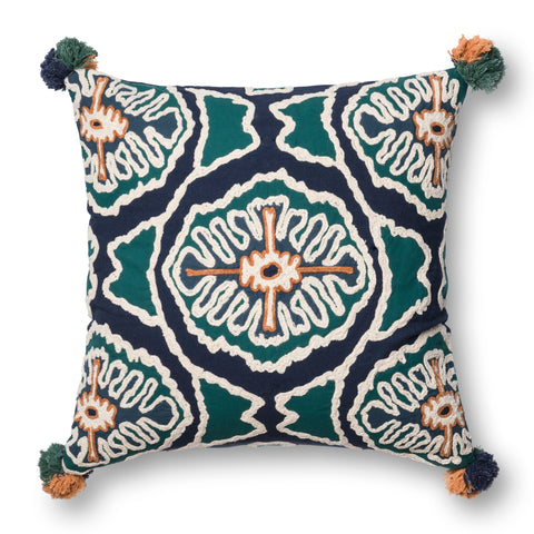 Blue & Teal Pillow by Justina Blakeney × Loloi