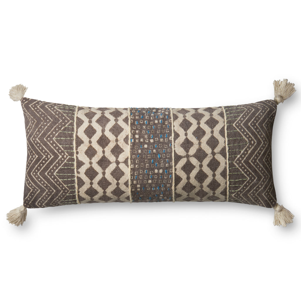 Grey & Multi Pillow by Loloi