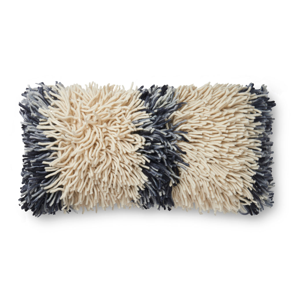 Ivory & Grey Pillow by Justina Blakeney × Loloi