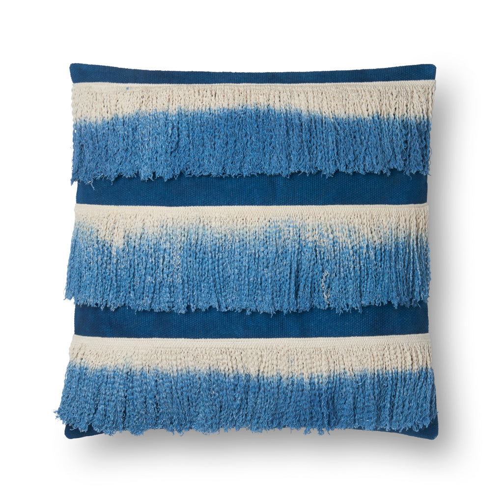 Blue & Ivory Pillow by Loloi