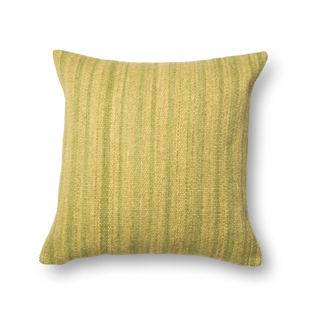 Green Dhurri Style Pillow by Loloi