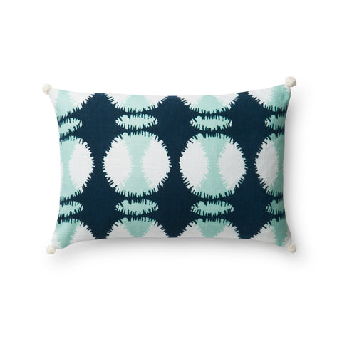 Teal & White Pillow by Justina Blakeney × Loloi
