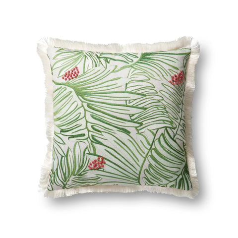 Green & Multi Pillow by Justina Blakeney × Loloi