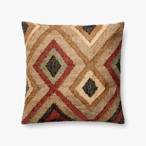 Rust & Beige Pillow by ED Ellen DeGeneres Crafted by Loloi
