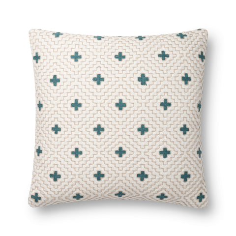 Ivory & Blue Pillow by Loloi