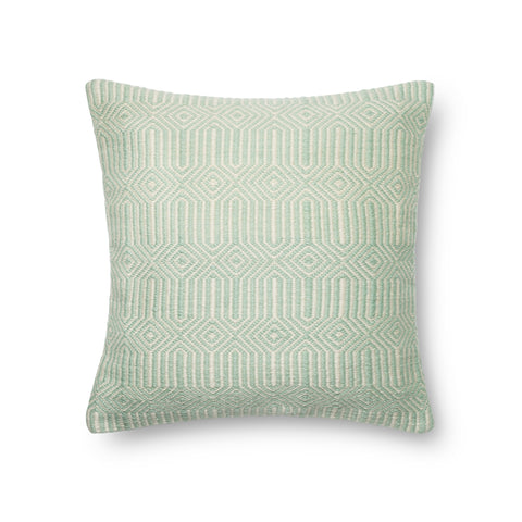 Aqua & Ivory Indoor/Outdoor Pillow by Loloi