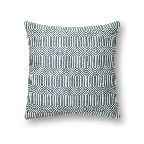 Blue & Ivory Indoor/Outdoor Pillow by Loloi