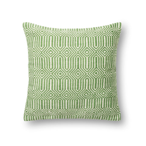 Green & Ivory Indoor/Outdoor Pillow by Loloi