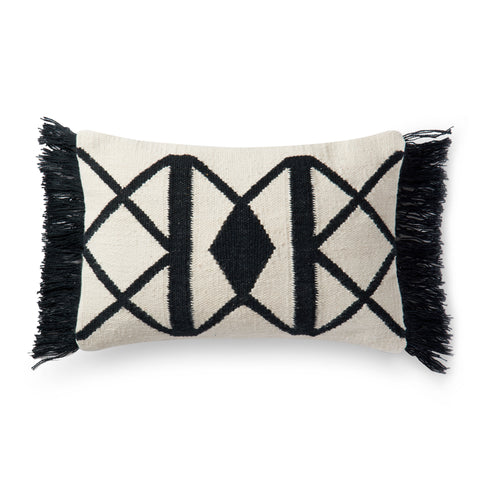 Black & Ivory Indoor/Outdoor Pillow by Loloi