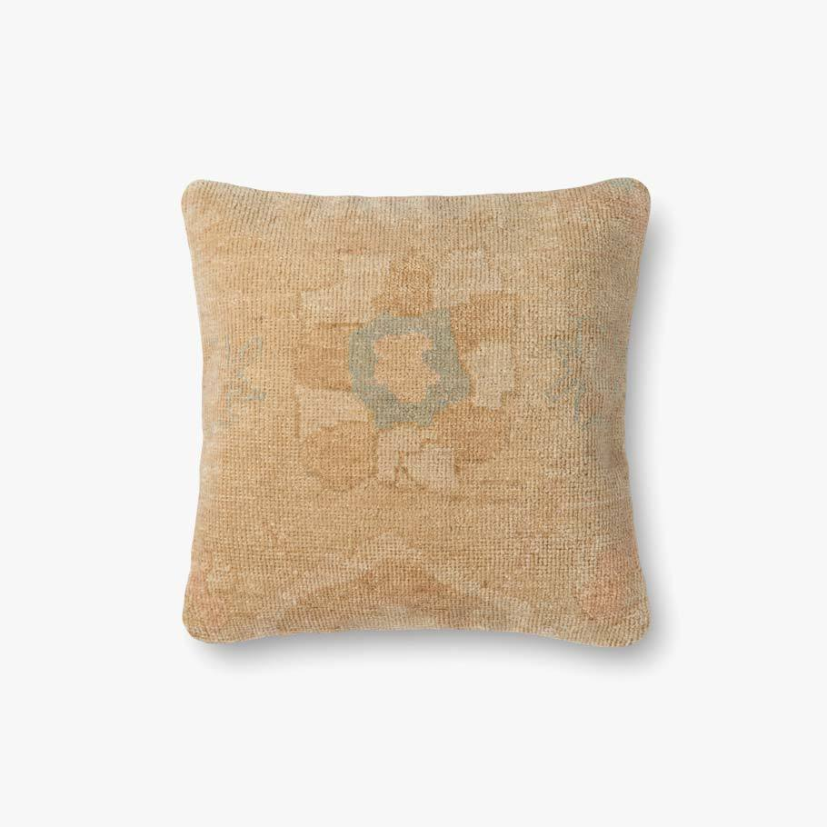 Gold & Beige Pillow by ED Ellen DeGeneres Crafted by Loloi