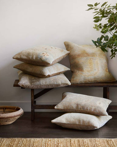 Beige & Gold Pillow by ED Ellen DeGeneres Crafted by Loloi