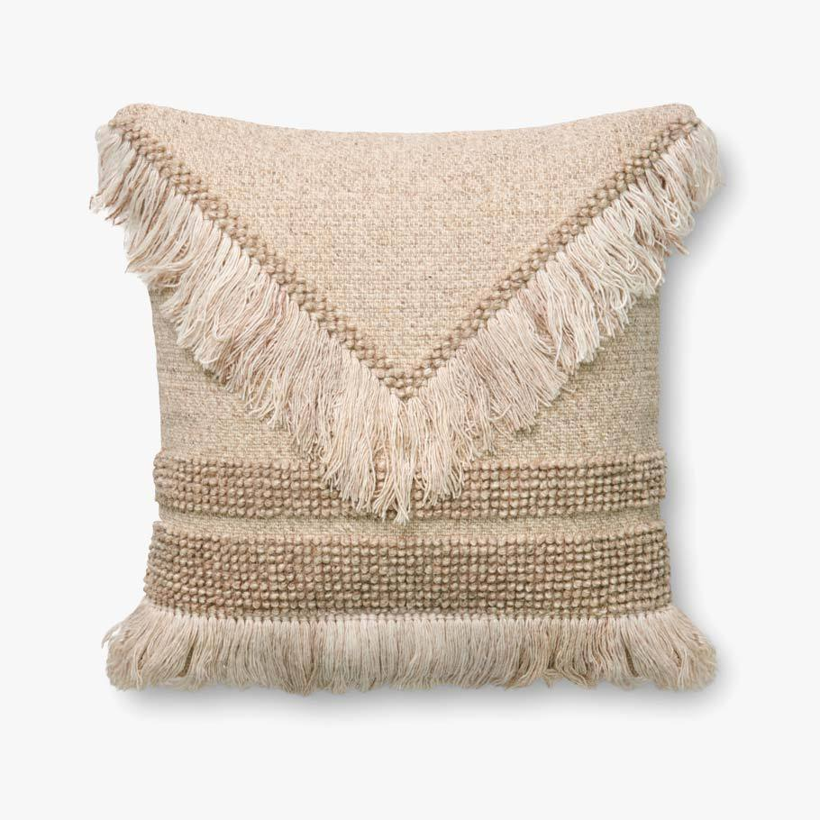 Ivory & Beige Pillow by ED Ellen DeGeneres Crafted by Loloi