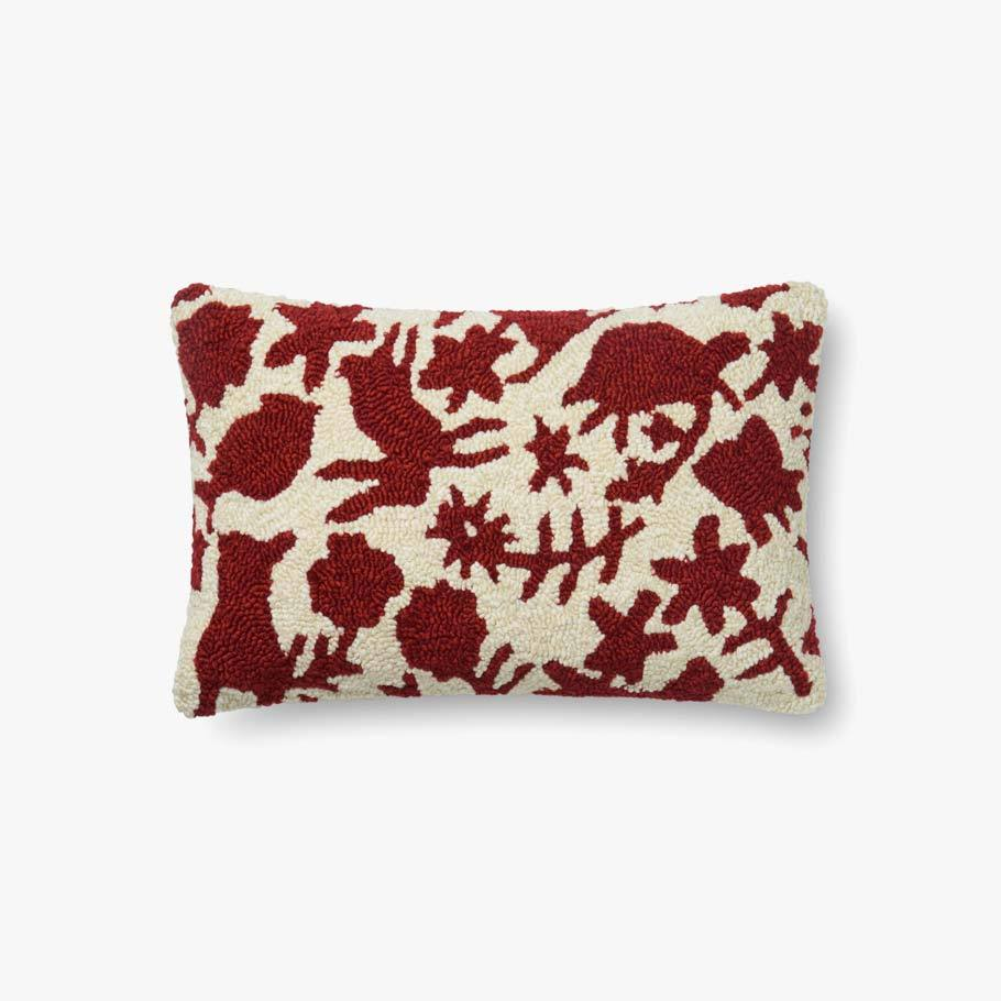 Red & Ivory Pillow by ED Ellen DeGeneres Crafted by Loloi