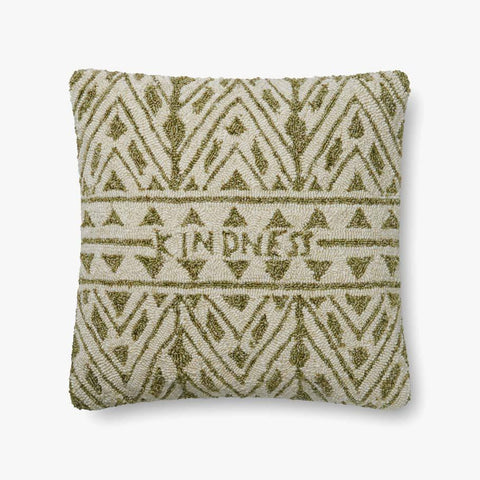 Green & Ivory Pillow by ED Ellen DeGeneres Crafted by Loloi