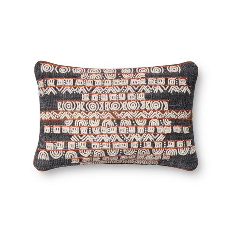 Blue & Rust Woven Pillow by Loloi