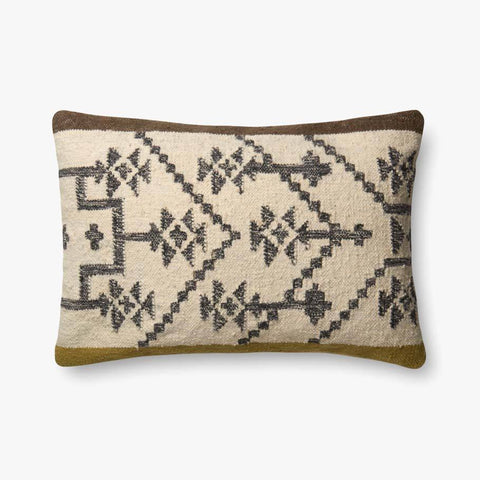 Olive & Taupe Pillow by ED Ellen DeGeneres Crafted by Loloi