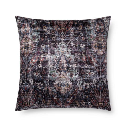 Abstract Black & Multi Pillow by Loloi