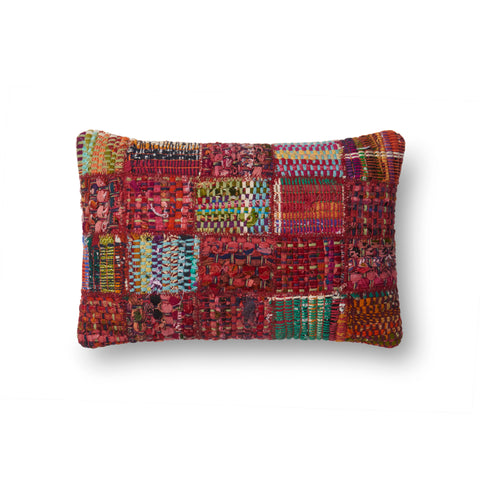Woven Red & Multi-Colored Pillow by Loloi